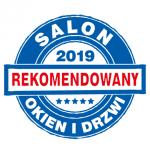 Tytuł Rekomendowany Salon Okien i Drzwi przyznany firmie EKO-DOM w Stargardzie i Drzwi S.A. przez niezależną Kapitułę